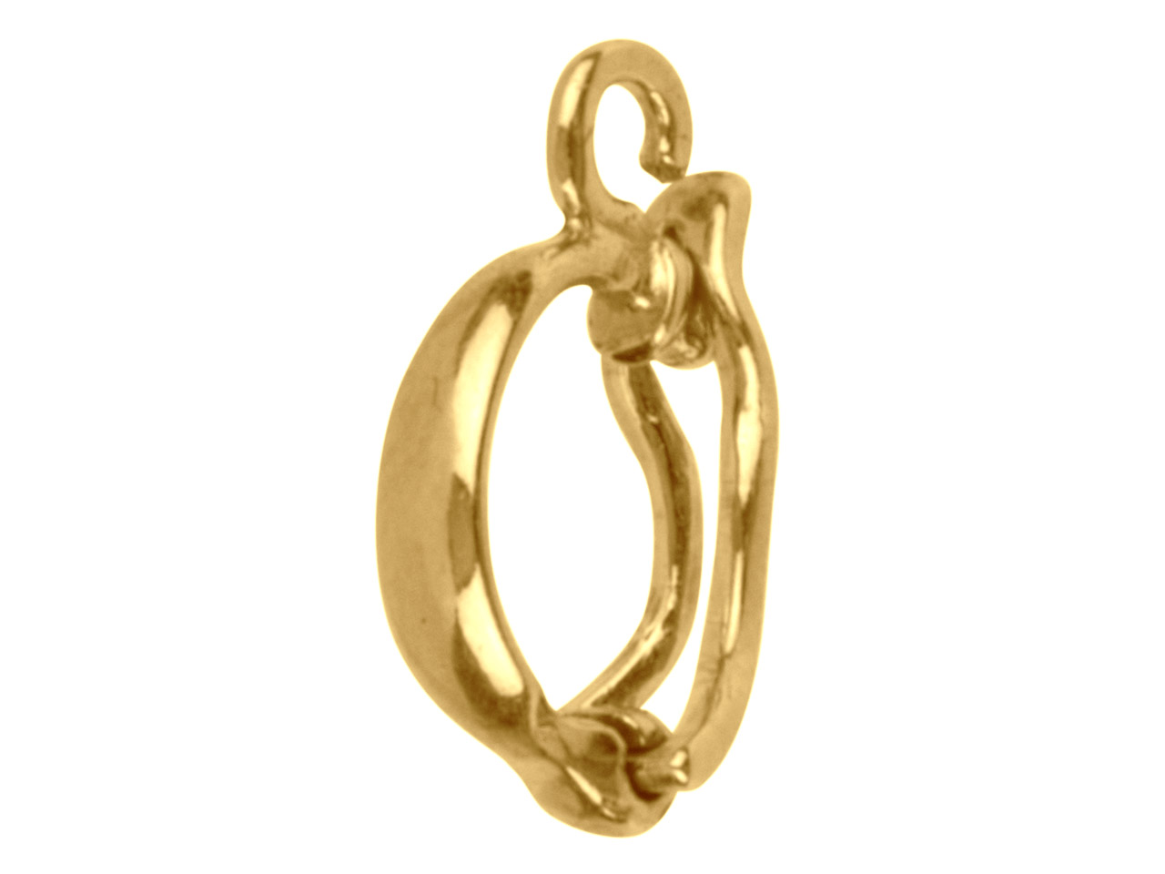 9ct Yellow Clip Bail With Figure Of 8, Medium