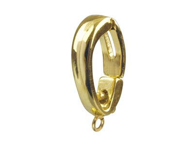 9ct Yellow Clip Bail With Figure Of 8, Large