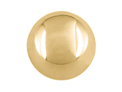 9ct Yellow Gold 4mm No-hole Plain  Semi Solid Bead
