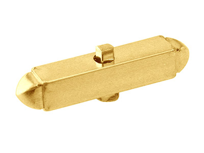 9ct Yellow Gold Cuff Link Body     Only, Light Weight