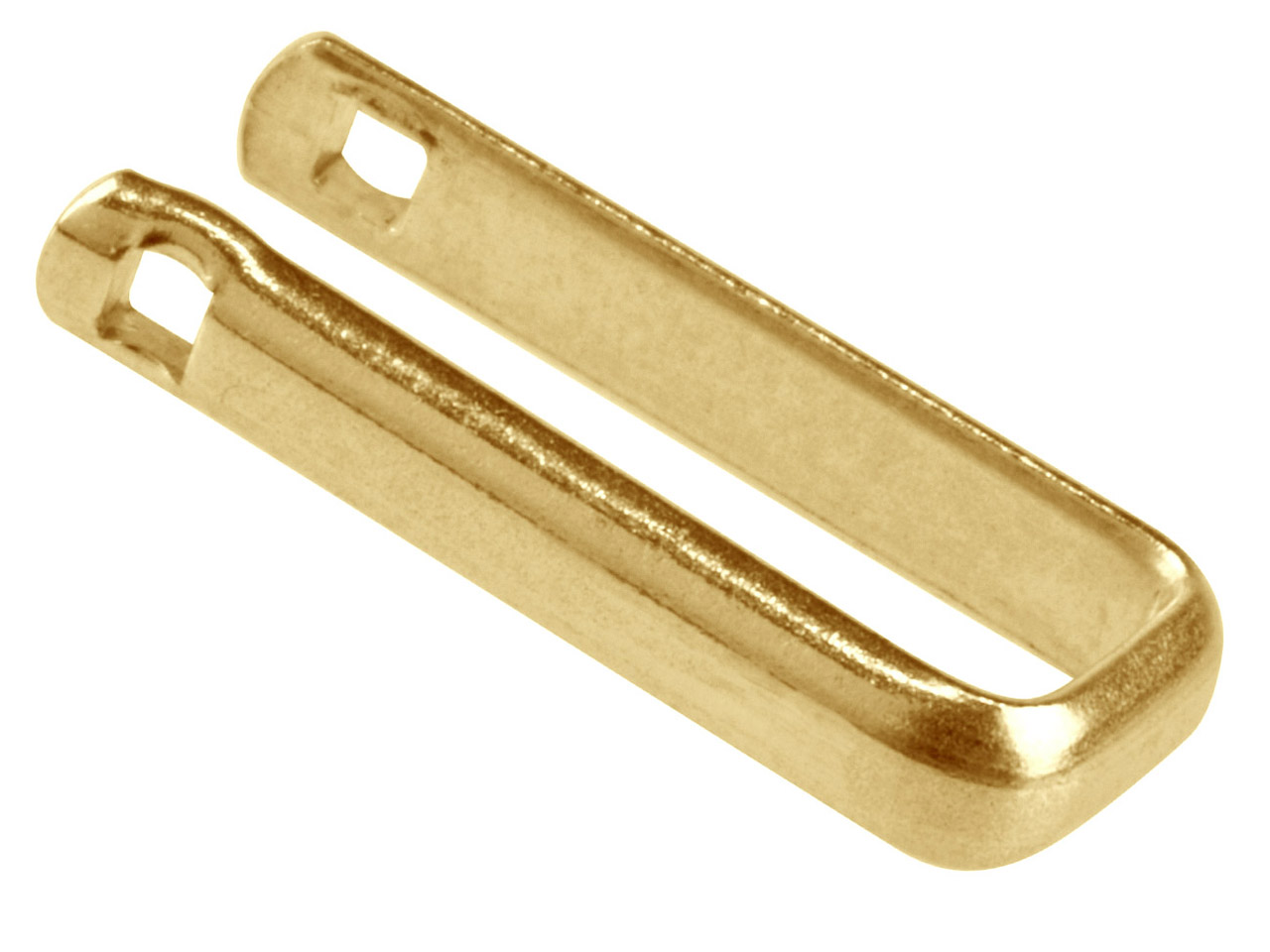 9ct Yellow Cuff Link U-arm Only,   Light Weight