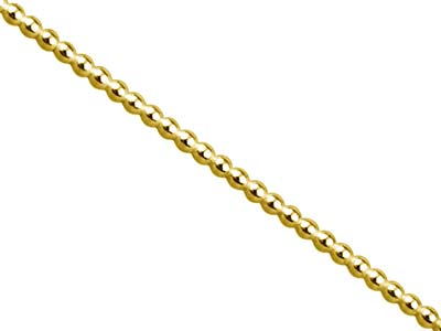 9ct Yellow Gold Beaded Wire 2mm
