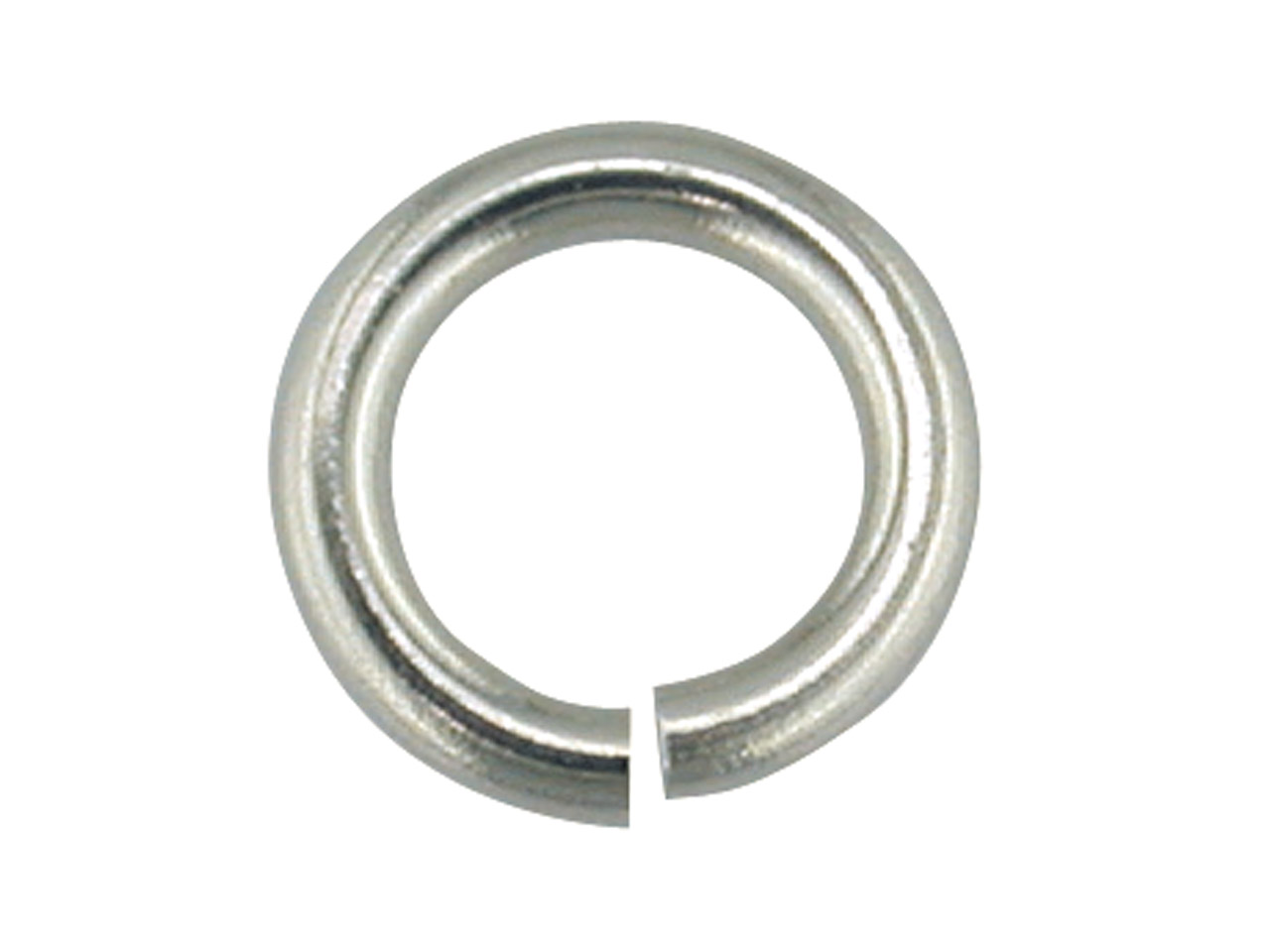 9ct White Jump Ring Heavy 6mm
