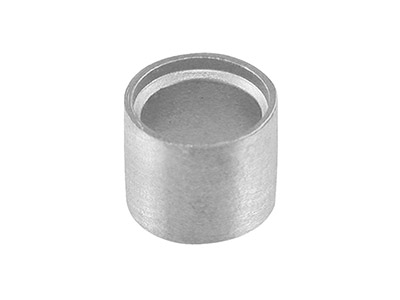 9ct White Gold Tube Setting 6.8mm  Rts68 Semi Finished Cast Collet