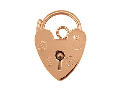 9ct Red Padlock Plain 11mm         Hallmarked