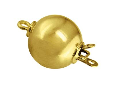 14ct Yellow Gold Plain Ball Clasp  10mm