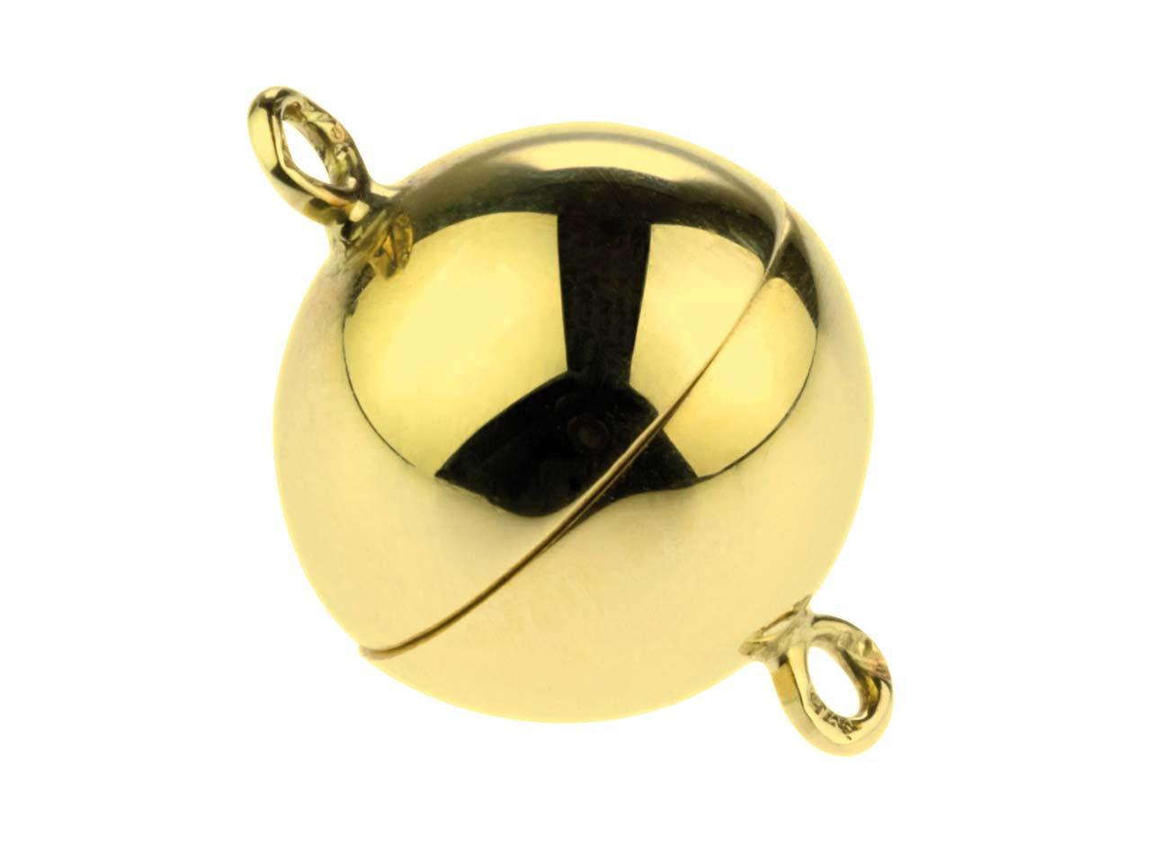 14ct Yellow Gold Magnetic Ball     Clasp 8mm
