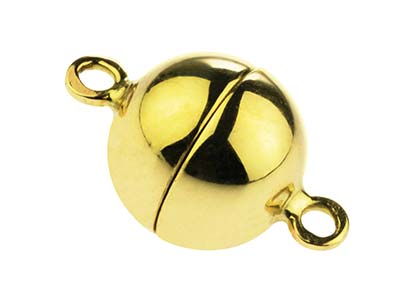 14ct Yellow Gold Magnetic Ball     Clasp 10mm
