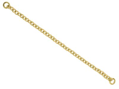 18ct Yellow Gold 1.8mm Trace Safety Chain For Bracelet 6.5cm2.6