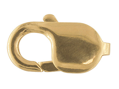 18ct Yellow Lobster Trigger Oval 9mm