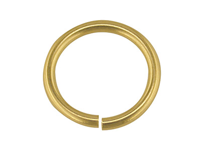 18ct Yellow Gold Jump Ring Heavy   6mm