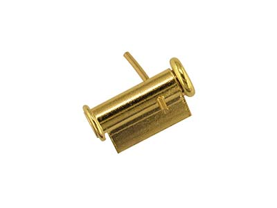 18ct Yellow Gold Tube Brooch Catch 6mm Side Opening A72161