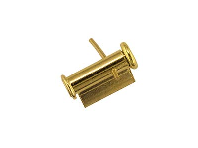 18ct Yellow Gold Tube Brooch Catch 6.5m Side Opening A72152