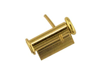18ct Yellow Gold Tube Brooch Catch 6.5m Side Opening