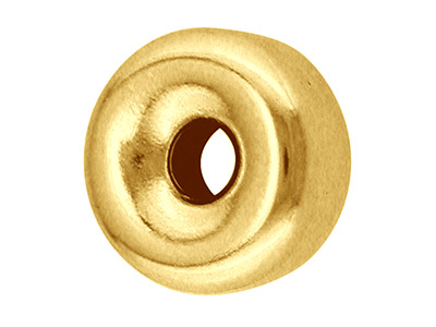 18ct-Yellow-Gold-Plain-Flat-2-Hole-Be...