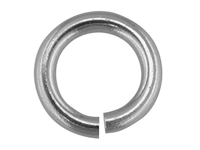 18ct White Gold Jump Ring Heavy    4.0mm