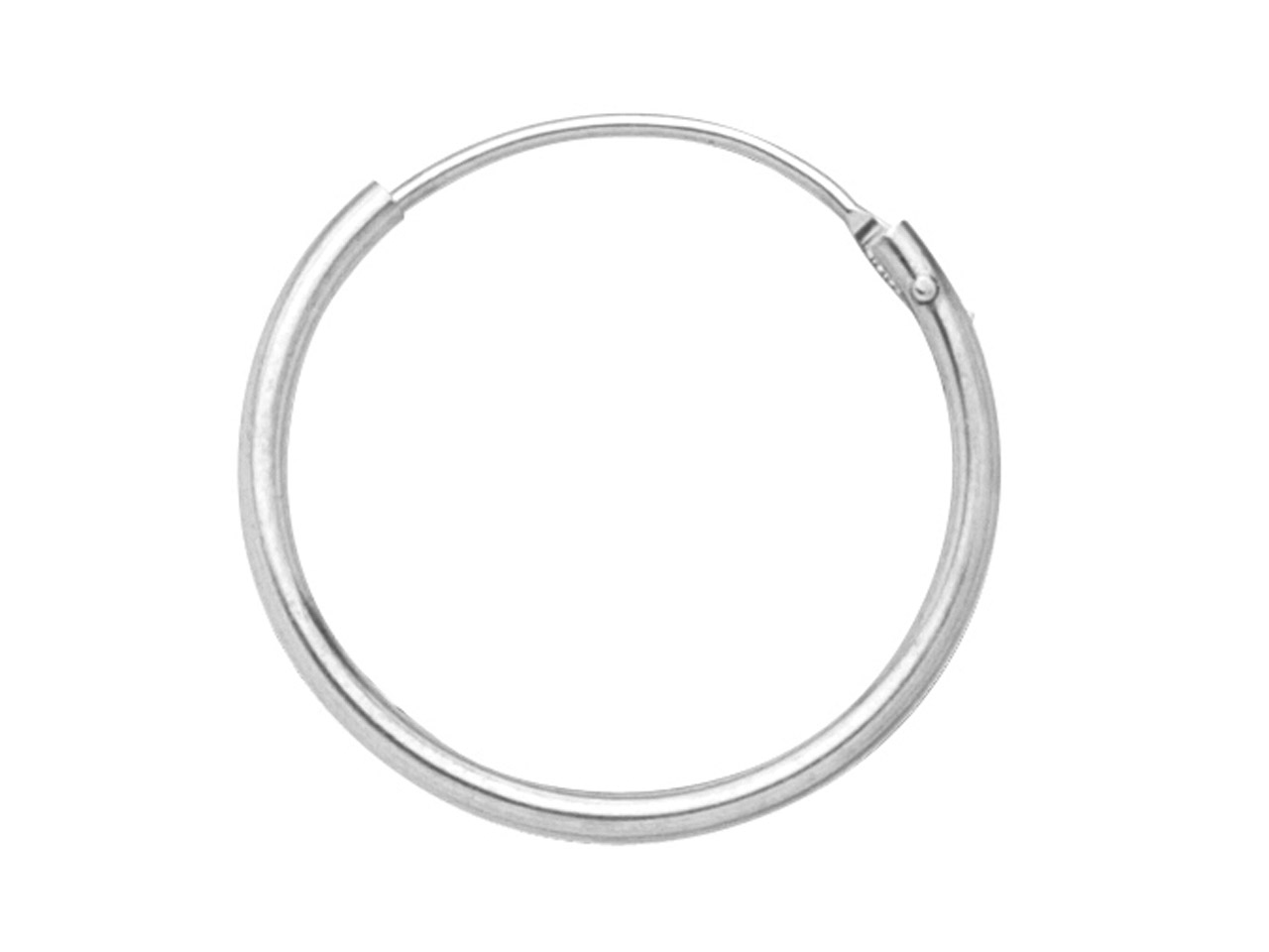 18ct White Gold Creole Hoop        Earrings, 11mm