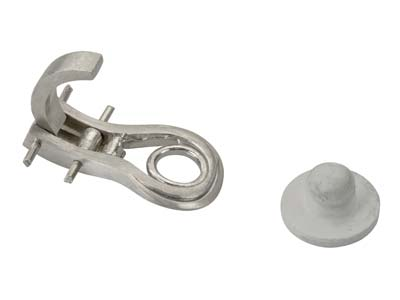 18ct-White-Sam-Ear-Clip-16mm-Heavy-Wi...