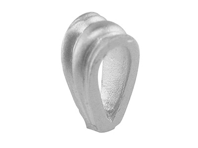 18ct White Bail Grooved Heavy Small Semi Finsemi Finished