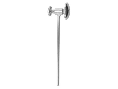 18ct White Gold Straight Ear Screw