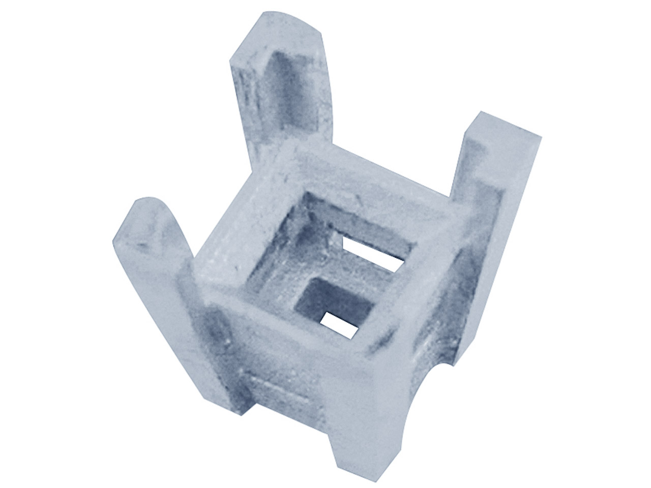 Sterling Silver Square 4 Claw 3.0mm Setting