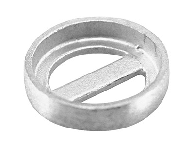 Sterling Silver Cast Settings      X1470, Round 8mm