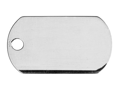 Sterling Silver Dog Tag            Stamping Blank 22 X 13 X 0.5mm