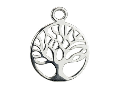 Sterling Silver Tree Of Life Classic Filigree Drop