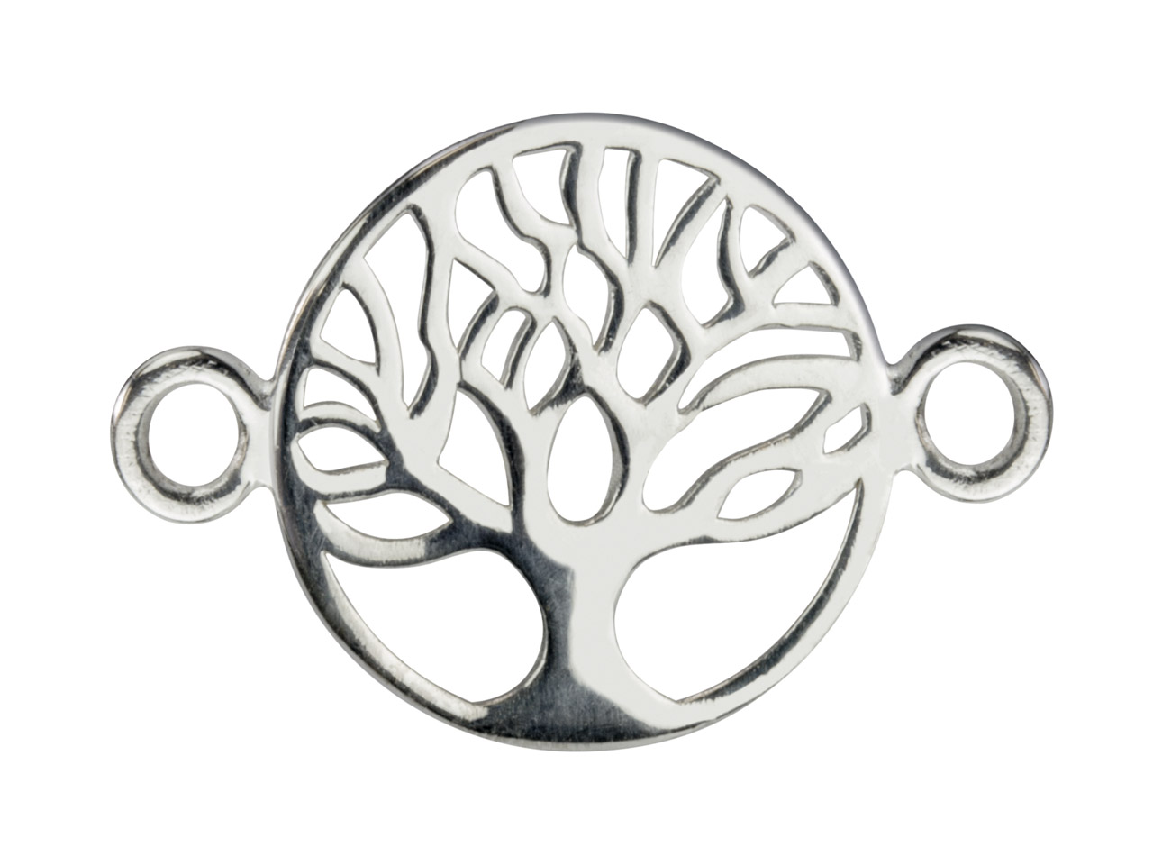 Sterling Silver Connector Tree Of  Life Classic Filigree 10mm         Pack of 5