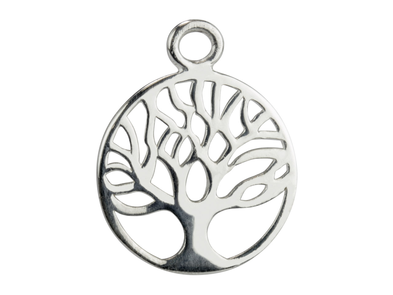 Sterling Silver Tree Of Life       Classic Filigree Drop 18mm         Pack of 5