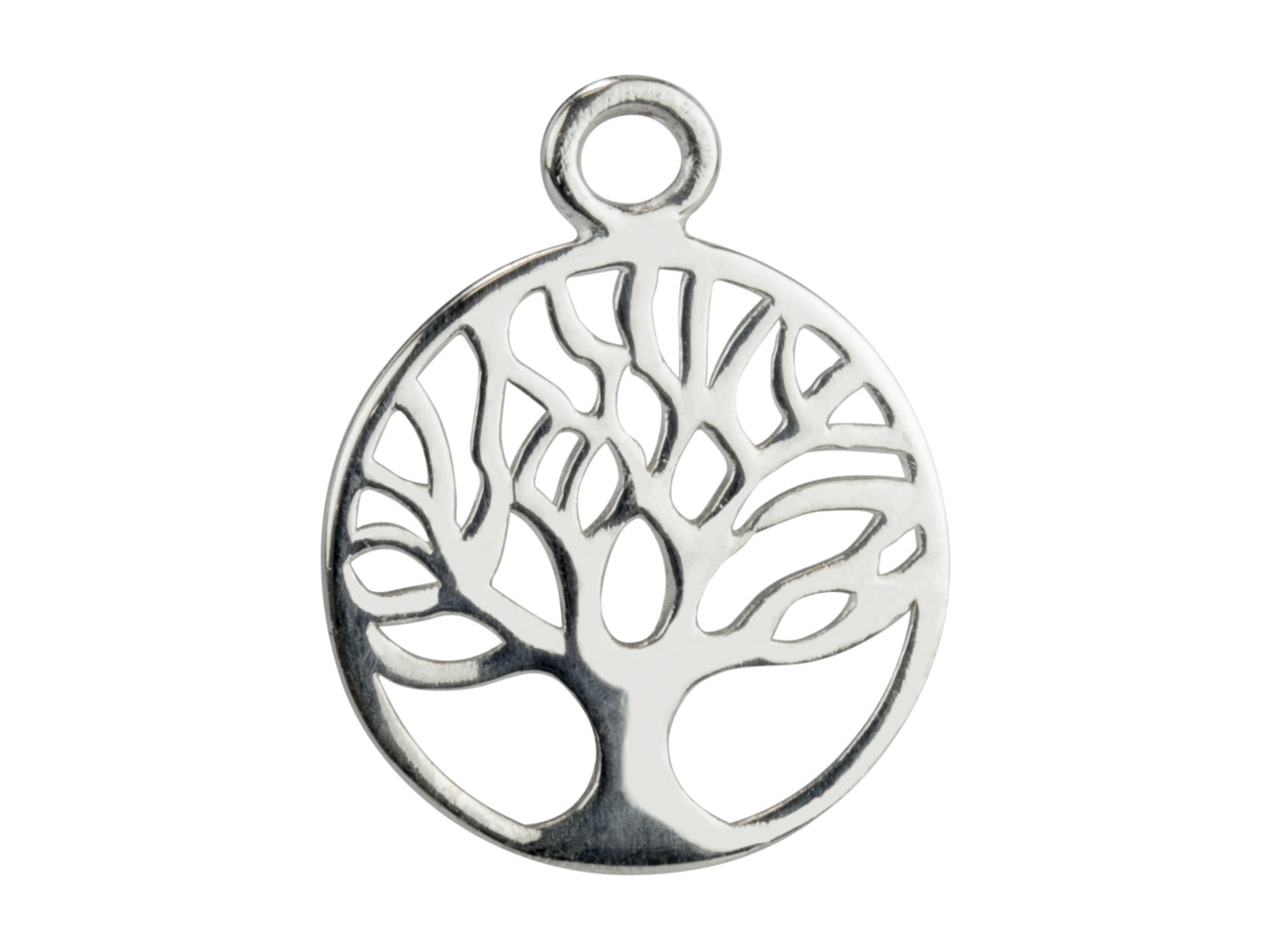 Sterling Silver Tree Of Life       Classic Filigree Drop 25mm         Pack of 5
