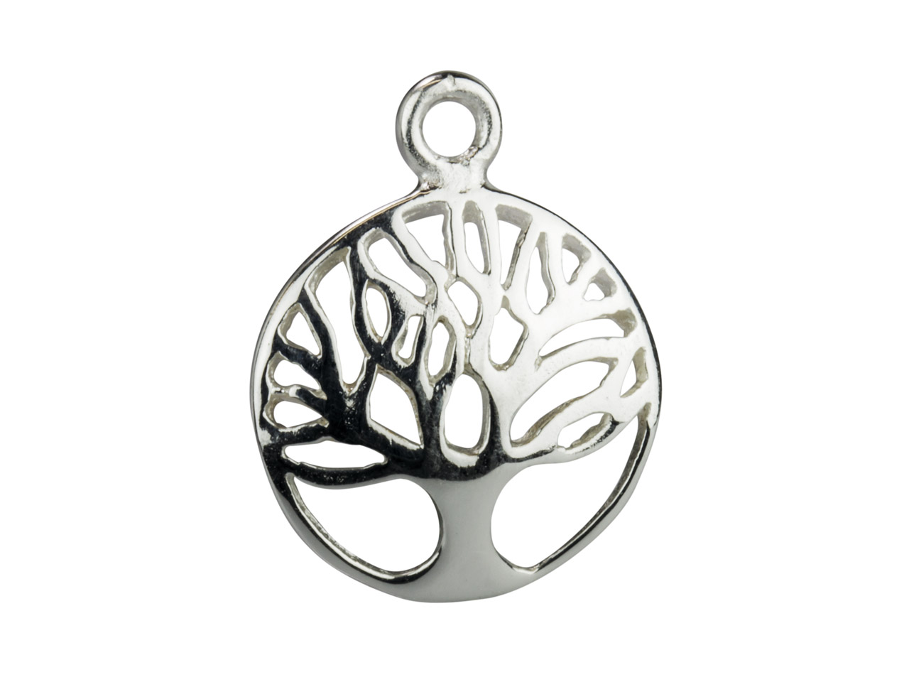 Sterling Silver Tree Of Life Domed Drop 12mm Pack of 5