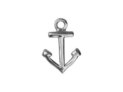 Sterling Silver Anchor 10mm