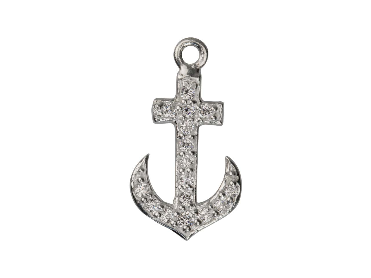 Sterling Silver Anchor Stone Set   15mm