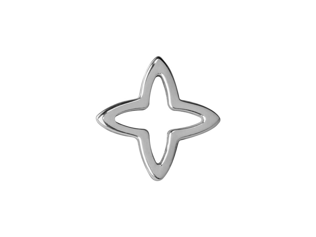 Sterling Silver Four Point Star    10mm Pack of 5