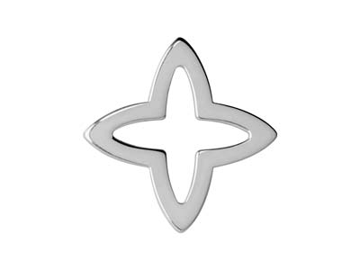 Sterling Silver Four Point Star    20mm Pack of 3