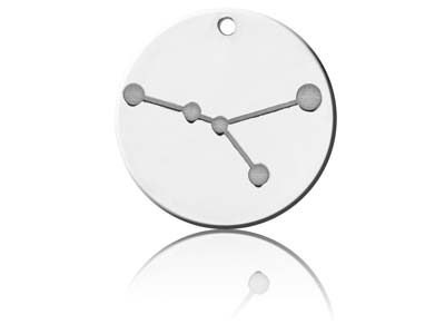 Sterling Silver Cancer Zodiac      Constellation 20mm