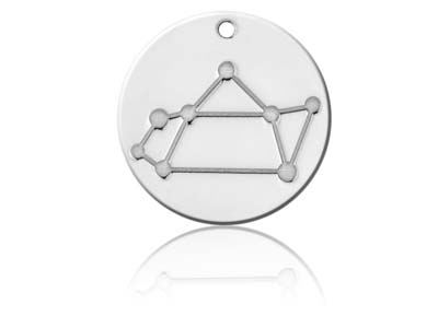 Sterling Silver Sagittarius Zodiac Constellation 20mm