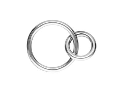 Sterling Silver Interlocking Rings 10mm And 6mm