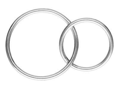 Sterling Silver Interlocking Rings 16mm And 12mm
