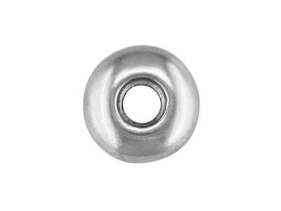 Sterling Silver Doughnut Setting    With Pendant, 9mm Diameter, To Take 3.6mm To 4.5mm Stone
