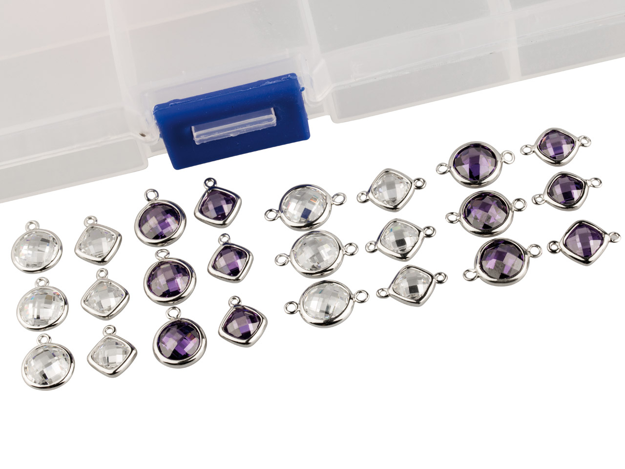 Sterling Silver Amethyst And White Cubic Zirconia Collection