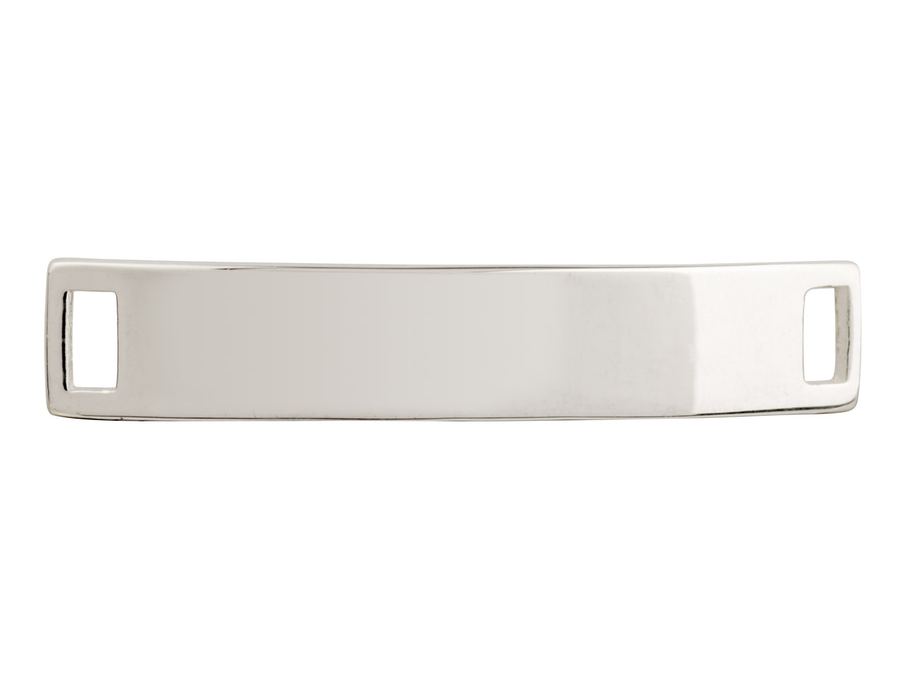 Sterling Silver Identity Plate     Curved 33x6mm Pack of 3