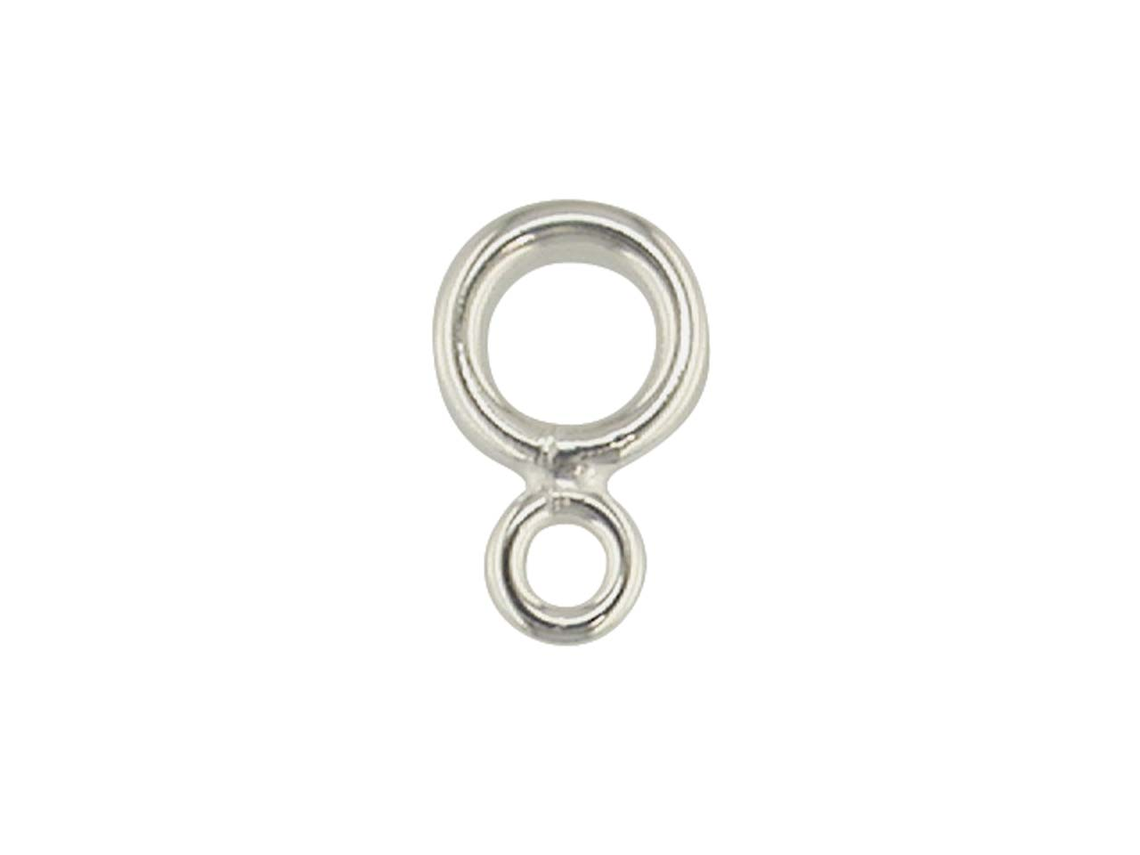 Sterling Silver Double Jump Ring    Pack of 10, Small Ring 2.6mm, Large Ring 4.5mm