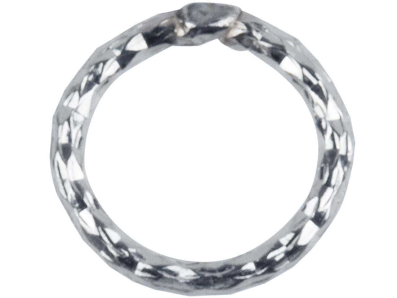 Sterling Silver 1mm X 7mm          Outside Diameter Pack of 10        Diamond Cut Decorative Jump Ring