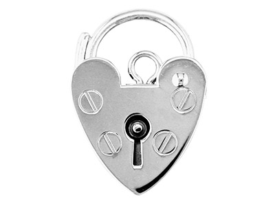 Sterling Silver Padlock Plain      15.0mm Marked 925