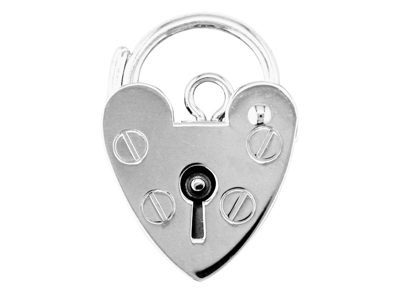 Sterling Silver Padlock Plain 9.0mm Marked '925'
