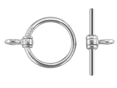 Sterling Silver Ring And Bar Ring Diameter 7mm Bar Length 10mm