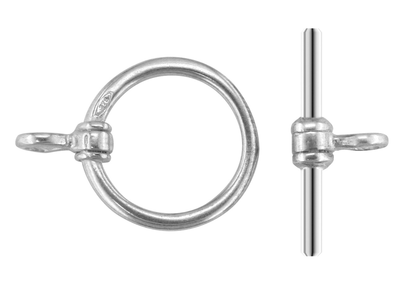 Sterling Silver Ring And Bar, Ring Diameter 7mm, Bar Length 10mm