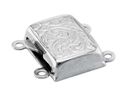 Sterling-Silver-10mm-2-Row-Engraved-C...